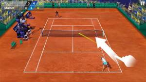 Androidアプリ「フリックテニス 3D - Tennis」のスクリーンショット 3枚目