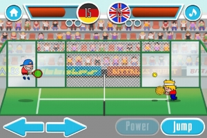 Androidアプリ「パドルテニスゲーム」のスクリーンショット 4枚目