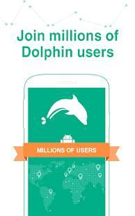 Androidアプリ「Dolphin Browser - Fast, Private & Adblock🐬」のスクリーンショット 1枚目