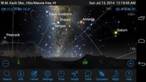 Androidアプリ「SkySafari 4 Pro Astronomy」のスクリーンショット 1枚目