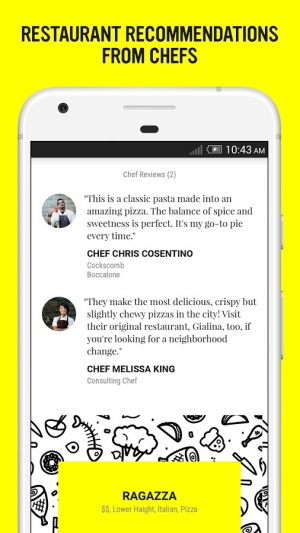 Androidアプリ「ChefsFeed - Dining Reviews」のスクリーンショット 2枚目