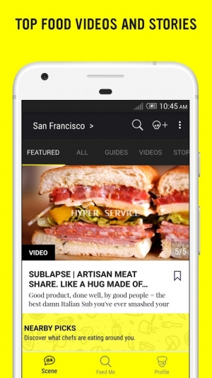 Androidアプリ「ChefsFeed - Dining Reviews」のスクリーンショット 1枚目