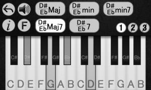 Androidアプリ「ピアノの和音を学ぶ」のスクリーンショット 3枚目