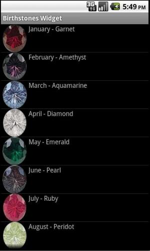 Androidアプリ「私の誕生石は何ですか?」のスクリーンショット 3枚目