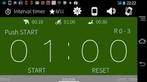 Androidアプリ「インターバルタイマー+ HIITトレーニング&レコード」のスクリーンショット 2枚目