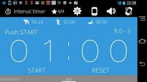 Androidアプリ「インターバルタイマー+ HIITトレーニング&レコード」のスクリーンショット 1枚目