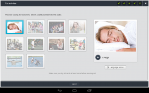 Androidアプリ「EF English Live for tablets」のスクリーンショット 4枚目