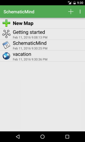 Androidアプリ「SchematicMind Free mind map」のスクリーンショット 4枚目