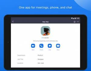 Androidアプリ「ZOOM Cloud Meetings」のスクリーンショット 1枚目