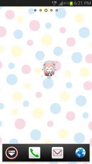 Androidアプリ「カベキャラ すーぱーそに子」のスクリーンショット 3枚目