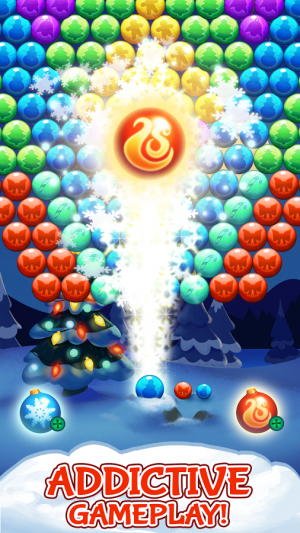 Androidアプリ「Bubble Shooter: Christmas day」のスクリーンショット 5枚目