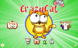 Androidアプリ「Crazy Cat - The Game for Cats!」のスクリーンショット 1枚目