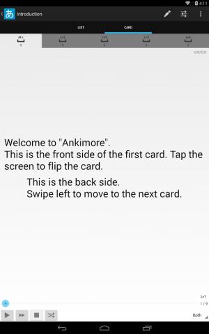 Androidアプリ「Ankimore 単語帳 Lite」のスクリーンショット 5枚目