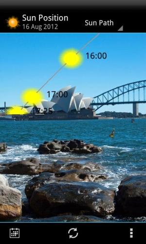 Androidアプリ「太陽の位置とサンライズデモ」のスクリーンショット 4枚目