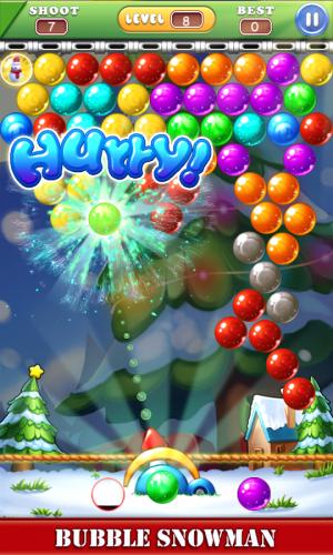 Androidアプリ「バブル雪だるま- Bubble snowman」のスクリーンショット 2枚目