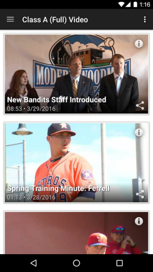 Androidアプリ「MiLB First Pitch」のスクリーンショット 4枚目