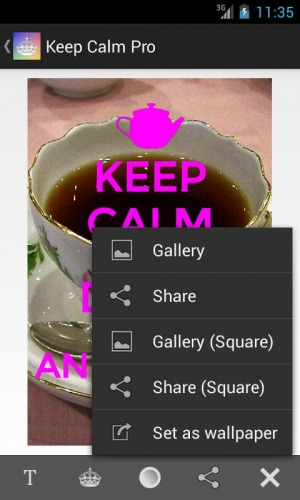 Androidアプリ「Keep Calm Pro」のスクリーンショット 3枚目