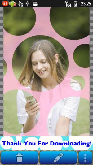 Androidアプリ「かわいい水玉写真加工PolkaDot」のスクリーンショット 2枚目