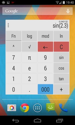 Androidアプリ「電卓ウィジェットのテーマ」のスクリーンショット 1枚目
