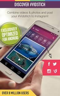 Androidアプリ「Vidstitch Pro - Video Collage」のスクリーンショット 1枚目