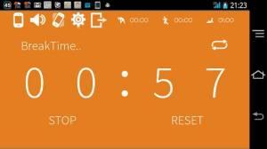 Androidアプリ「インターバルタイマー HIITトレーニング&フィットネス」のスクリーンショット 2枚目