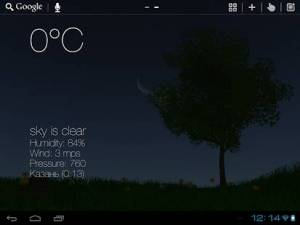 Androidアプリ「Nature Live Weather 3D LWP」のスクリーンショット 2枚目