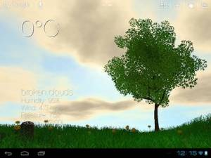 Androidアプリ「Nature Live Weather 3D LWP」のスクリーンショット 3枚目
