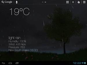 Androidアプリ「Nature Live Weather 3D LWP」のスクリーンショット 5枚目