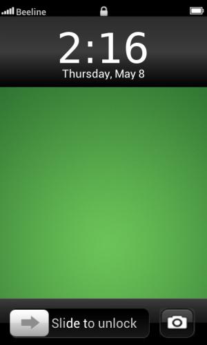Androidアプリ「iPhone 5ロック画面」のスクリーンショット 1枚目