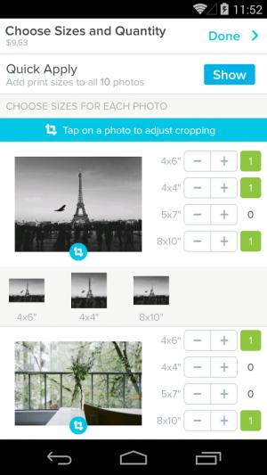 Androidアプリ「Kicksend Photo Prints」のスクリーンショット 4枚目