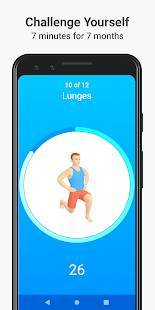 Androidアプリ「Seven - 7 Minute Workout」のスクリーンショット 1枚目