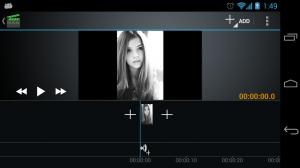 Androidアプリ「ビデオ編集&映画スタジオ」のスクリーンショット 1枚目