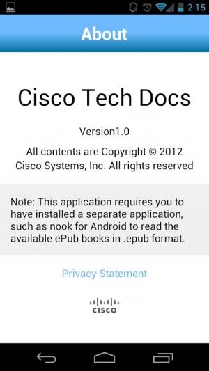 Androidアプリ「Cisco Tech Docs」のスクリーンショット 3枚目