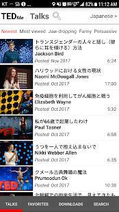 Androidアプリ「テッドで英語の勉強・英語日本語同時字幕(TED)」のスクリーンショット 1枚目