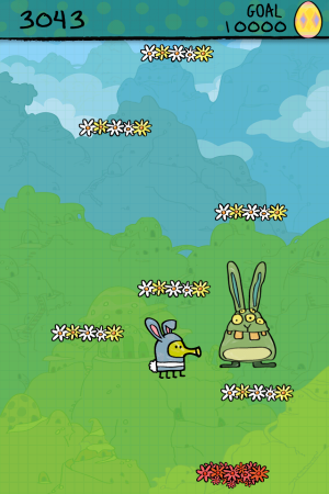 Androidアプリ「Doodle Jump Easter Special」のスクリーンショット 1枚目