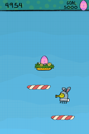 Androidアプリ「Doodle Jump Easter Special」のスクリーンショット 4枚目