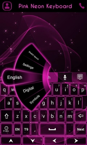 Androidアプリ「GO Keyboard Pink Neon Theme」のスクリーンショット 3枚目