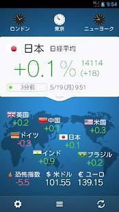 Androidアプリ「世界の株価」のスクリーンショット 4枚目