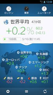 Androidアプリ「世界の株価」のスクリーンショット 2枚目