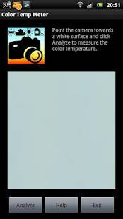 Androidアプリ「White Balance Color Temp Meter」のスクリーンショット 1枚目