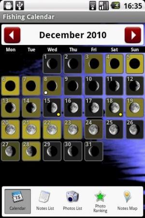 Androidアプリ「釣りカレンダー (Fishing Calendar)」のスクリーンショット 3枚目
