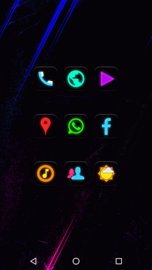 Androidアプリ「Neon Glow - Icon Pack」のスクリーンショット 5枚目
