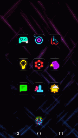 Androidアプリ「Neon Glow - Icon Pack」のスクリーンショット 4枚目