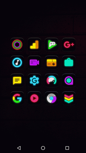 Androidアプリ「Neon Glow - Icon Pack」のスクリーンショット 3枚目
