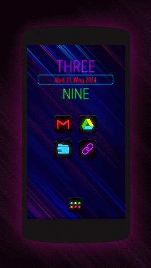 Androidアプリ「Neon Glow - Icon Pack」のスクリーンショット 2枚目