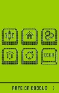 Androidアプリ「1ビット・黑・アイコン・テーマ」のスクリーンショット 3枚目