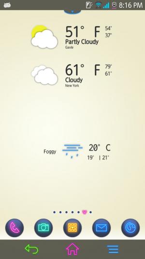 Androidアプリ「Chronus Crius cLock - Flaties」のスクリーンショット 5枚目