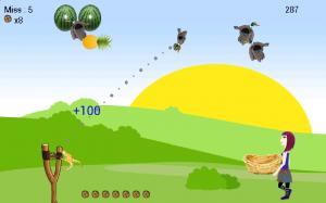 Androidアプリ「Shoot Girl's Fruits : Gulel」のスクリーンショット 5枚目
