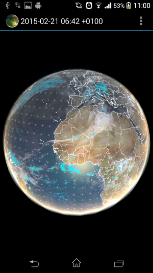 Androidアプリ「Earth Viewer」のスクリーンショット 5枚目