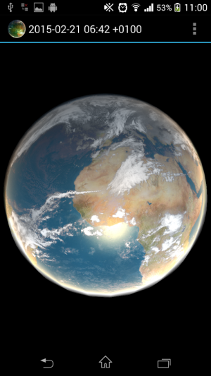 Androidアプリ「Earth Viewer」のスクリーンショット 3枚目